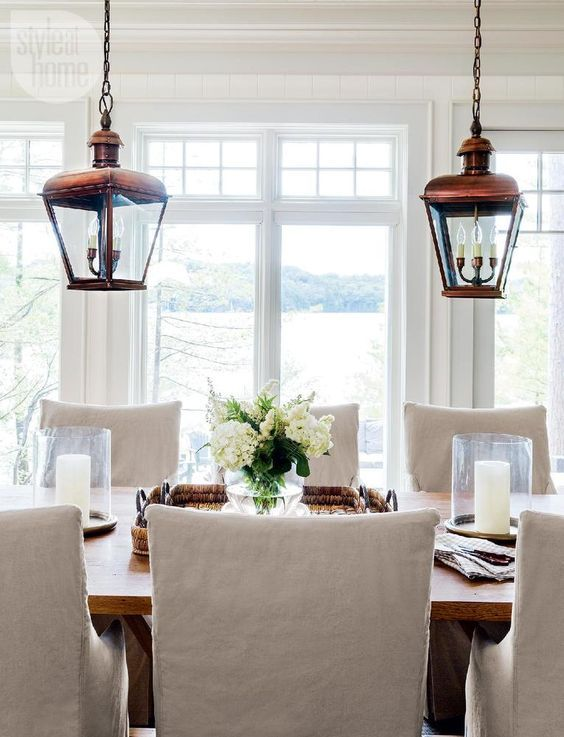 lighting for rooms. 2 lanterns over oyster tablehouse tour country casual cottage style at home lighting for rooms