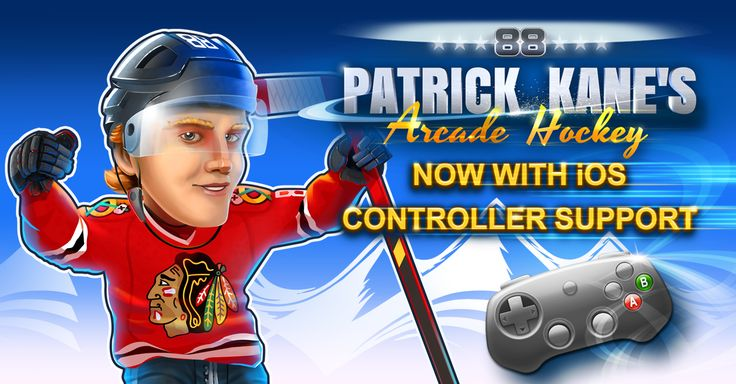 Did you know that the latest (iOS) version of Patrick Kane's Arcade Hockey has CONTROLLER support?   http://www.dmc-ops.com/pkahstorelink.php  #ios #appstore #android #google #play #patrick #kane #88 #88PKane #chicago #blackhawks #icehockey #nhl #mobile #games #video #win