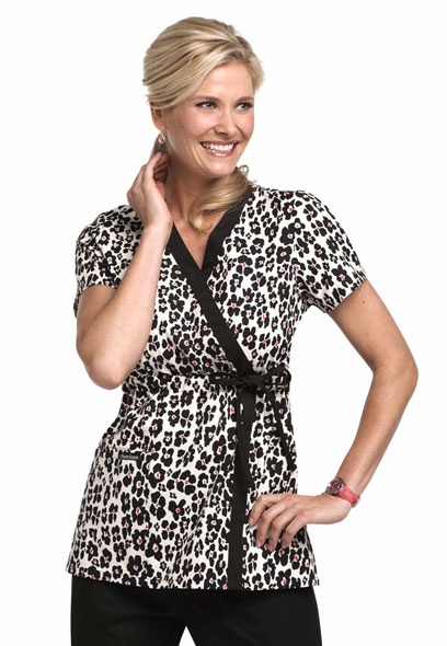 Cherokee Growing Wild print side tie scrub top.