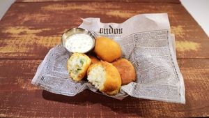 Arancini Hushpuppies Recipe | The Chew - ABC.com