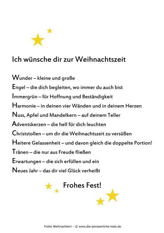 """Kostenloser PDF-Download im Adventskalender der """"24 kleinen Wortgeschenke"""": Weihnachtswunsch (zum Ausdrucken, Weitergeben, Verschenken, für die Weihnachtsgrüße, …):"""