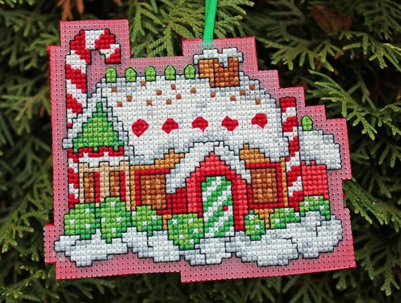 Cross Stitch Christmas Ornament Gingerbread Girl by britto801