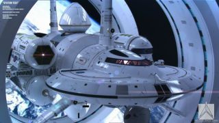 This is NASA's idea for a warp drive spaceship, capable of interstellar travel. It's not a fantasy sci-fi ship but a concept based on the equations of Dr. Harold White—lead at NASA's Eagleworks Advanced Propulsion Physics Laboratory—who also works in ion engines and plasma thrusters.