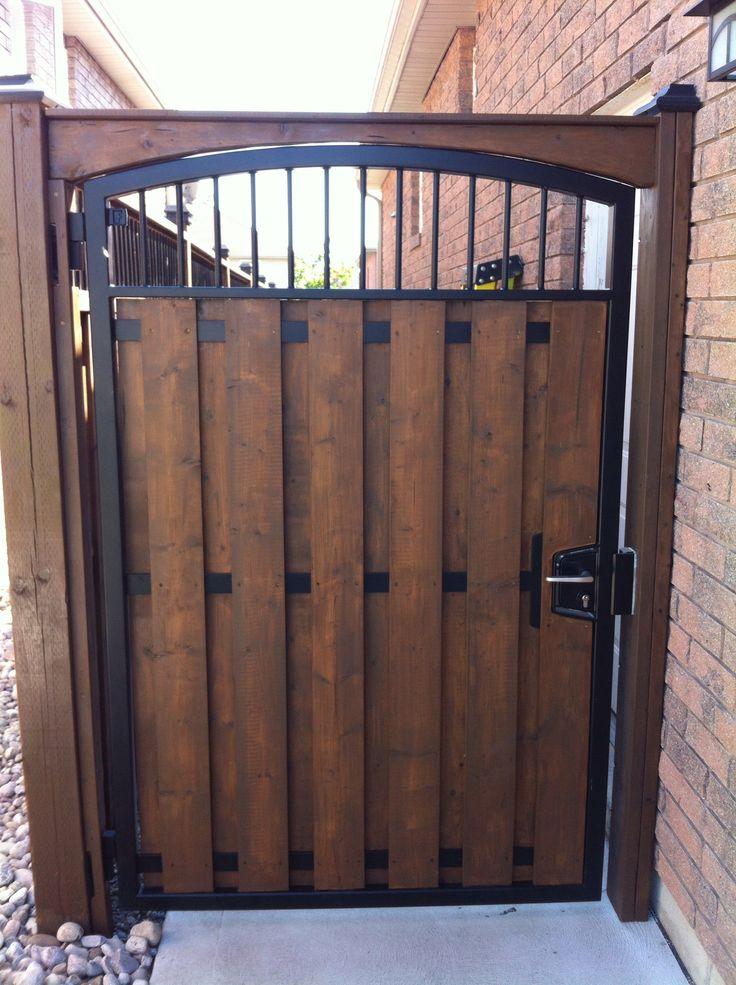 Steel Man gate with wood www.forzametal.com   Wooden ...