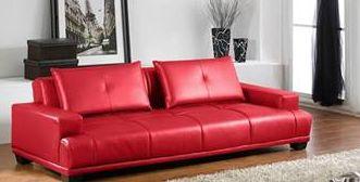 Parfaite alliance entre design et confort le canap convertible valdo en sim - Canape simili cuir rouge ...