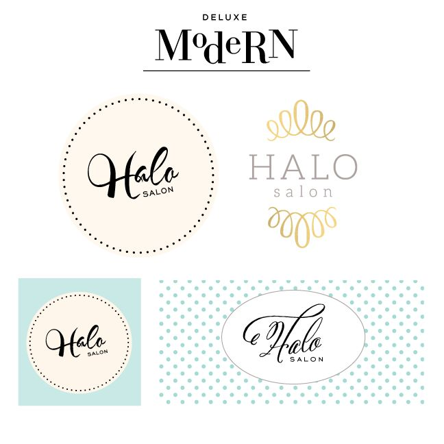 Great Deluxemodern Custom Logo Design / Comps For Halo Salon.