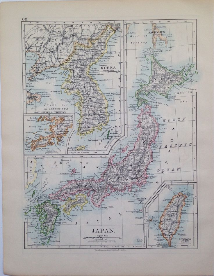 1906 Japan u0026 KoreaRussia in Asia original