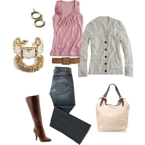 .not sure about the accessories: Fashion, Clothes My Style, Color, My Style Woman Workout, Fall Outfit, Mommy Clothes, Wear, Workout Mommy, Pink Top