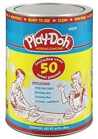 Play-Doh was introduced in 1956 #vintage  loved opening a new can...