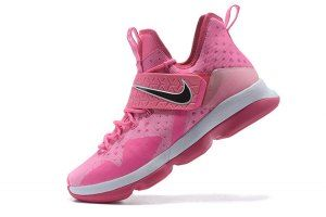 huge discount e400a d56de Mens Nike LeBron 14 Vivid Pink White Basketball Shoes
