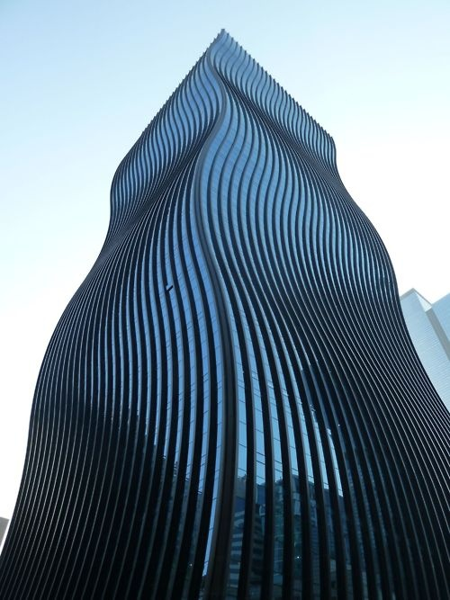 GT Tower East, Seoul, South Korea. designed by architectural firm ArchitectenConsortBuildings, Seoul, Brushes Strokes, Towers East, Gt Towers, Honey Chicken, Architecture, Design, South Korea