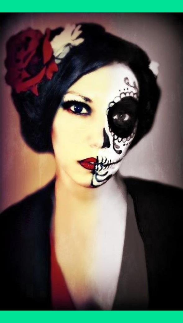 Candy skull Halloween makeup