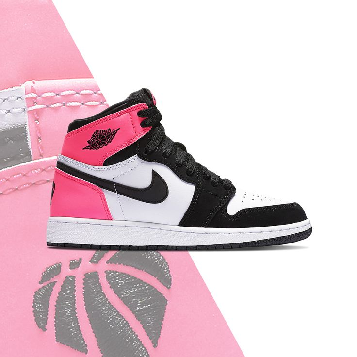 Pick up some good Valentine's Day vibes. The girls' Jordan Retro 1 Hi OG is out now.