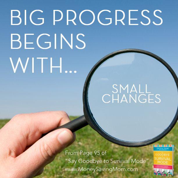 Big progress begins with... - Money Saving Mom®