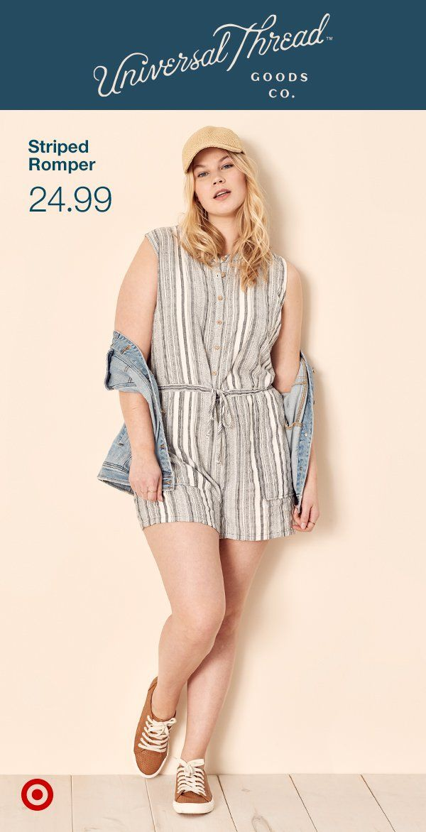 8dd7523b9814 The Universal Thread sporty, lightweight romper is a summertime one-piece  wonder. Only at Target.