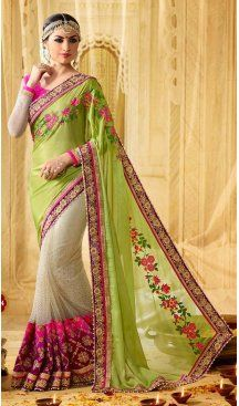 Parrot Green Color Georgette Chiffon Embroidery Designer Saree | FH583986206 Follow us @heenastyle #saree #sari #sarees #sareelove #sareeindia #indiansaree #designersaree #sareeday #silksaree #lehengasaree #designersarees #sareesilk #weddingsaree #sareeblouse #sareefashion #ethnicwear #georgette #partywear #latestfashion #latestdesign #newfashionsaree #newdesigsaree #goldenbordersaree #instafashion #designersaris #heenastylesaree #heenastyle