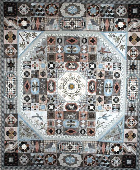 """❤ =^..^= ❤    Patchalafolie   """"Victoria et Albert Museum Quilt"""", Yoko Saito, 188 X 188 cm, vue d'ensemble"""