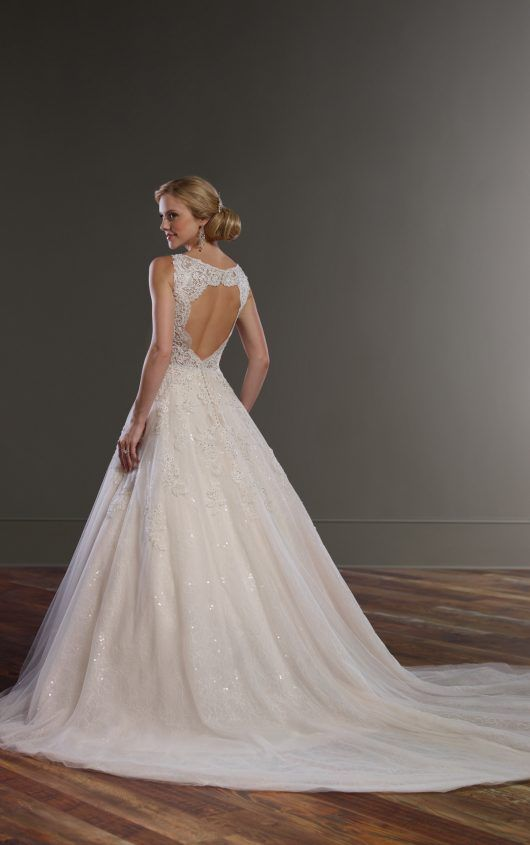 834 Ball Gown Wedding Dress with Keyhole Back by Martina Liana
