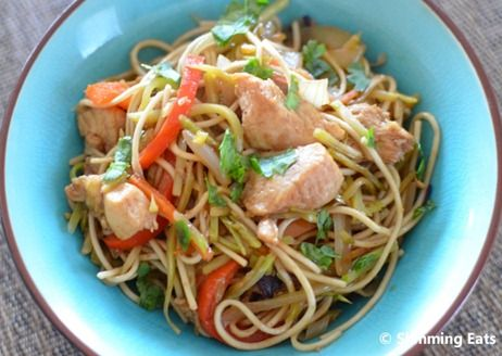 Hoisin Chicken with Noodles Slimming Eats Recipe Serves 2 Extra Easy – 3 syns per serving Ingredients 1 large chicken breast, sliced into small strips 160g of egg noodles (uncooked) 1 small onion, sliced 1 clove of garlic, crushed 1 teaspoon of fresh grated ginger 1 red pepper, sliced 2 cups of slaw mix (this...Read More »