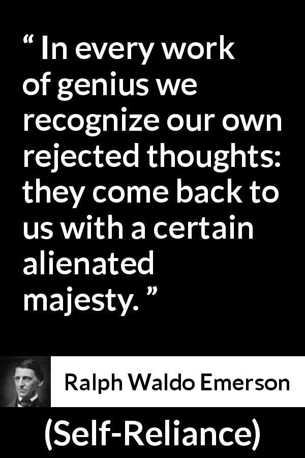 Ralph Waldo Emerson About Thoughts Self Reliance 1841 Words