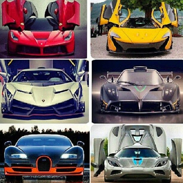 6 supercars which one do you want? #Ferrari