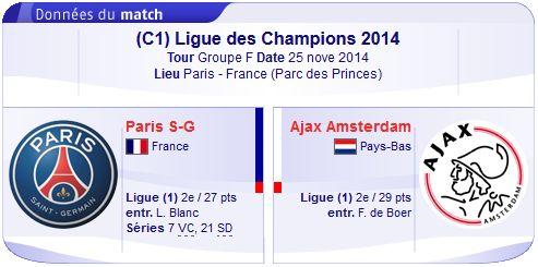 UEFA Champions league : Regarder PSG vs Ajax Amsterdam en direct streaming sur bein sport le 25-11-2014 : http://beinsporthd-direct.blogspot.com/2014/11/regarder-psg-vs-ajax-amsterdam-en.html