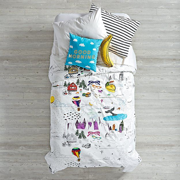 Banana Throw Pillow | The Land of Nod