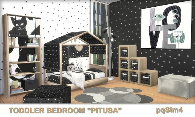 """Toddler Bedroom """"Pitusa"""" by pqSim4 Sims 4 cc möbel, Sims"""