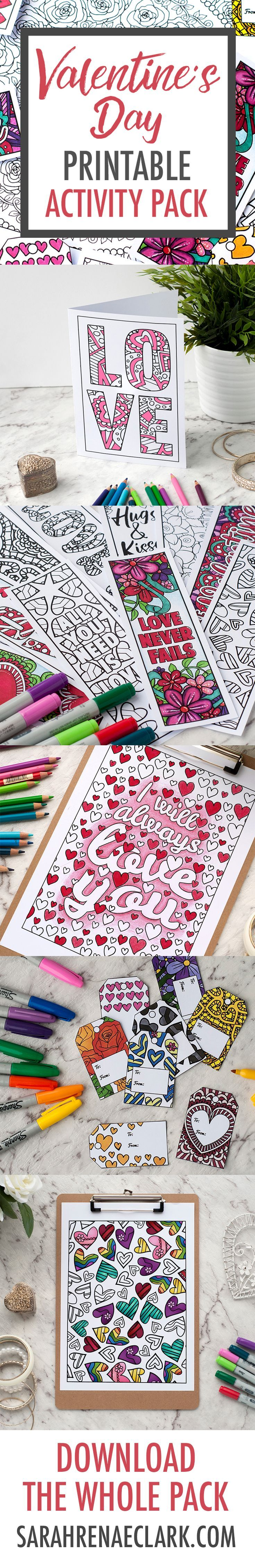 77cf153fdcbece268b296418787a3e5b - Valentine's Day Printable Activity Pack | Full of Valentine's Day coloring...
