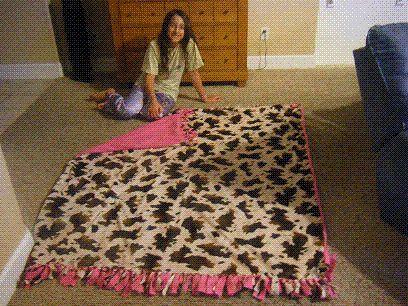 No Sew Fleece Blanket Instructions Gift Ideas