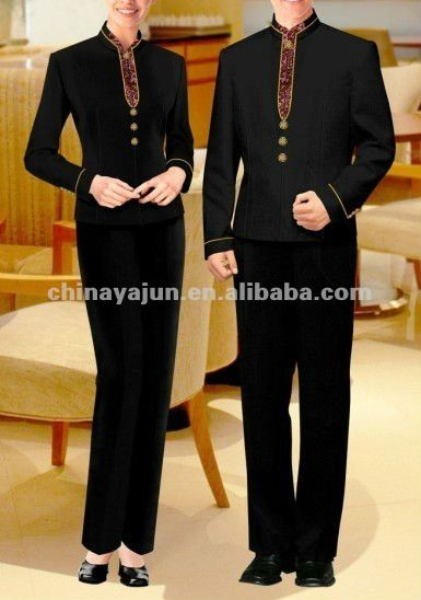 #Hotel uniform suits, #Black hotel uniform, #Trousers hotel uniform