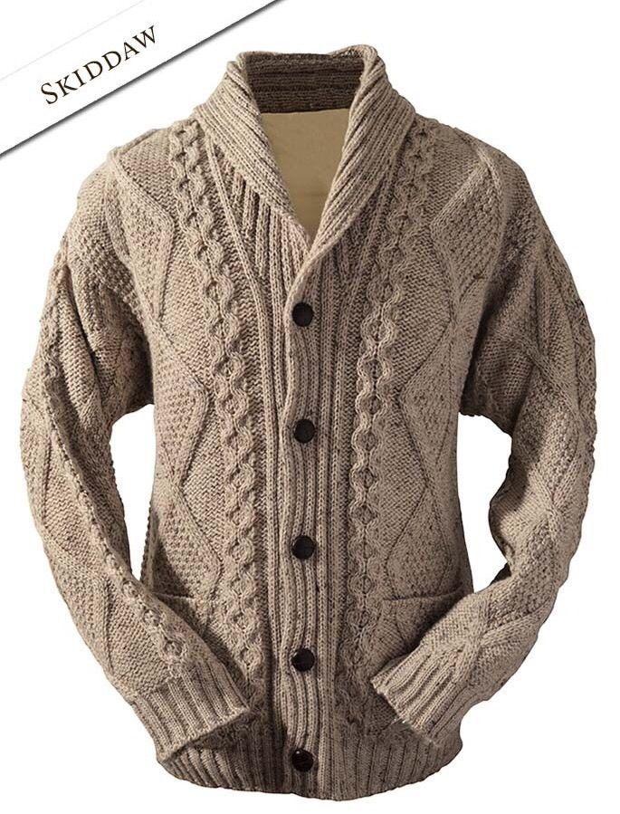http://www.ebay.com/itm/NWT-Mens-Aran-Irish-Shawl-Collar-Oatmeal-Cardigan-Sweater-XXL-100-Merino-Wool-/161721471646?pt=LH_DefaultDomain_0