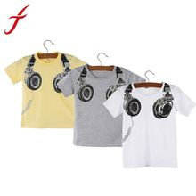Feitong New Fashion Boy Kids Summer Clothing Casual 3D Headphone Short Sleeve Tops Blouses T Shirt Tees Clothes Free Shipping //Price: $US $2.24 & FREE Shipping //     #fashion