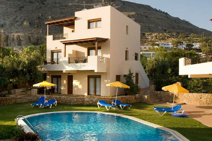 Heerlijke vakantievilla voor 6 personen op het Griekse eiland Rhodos. Genieten optima forma! Te huur via onze website.
