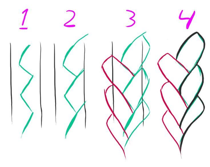 Resultado de imagen de como dibujar trenzas