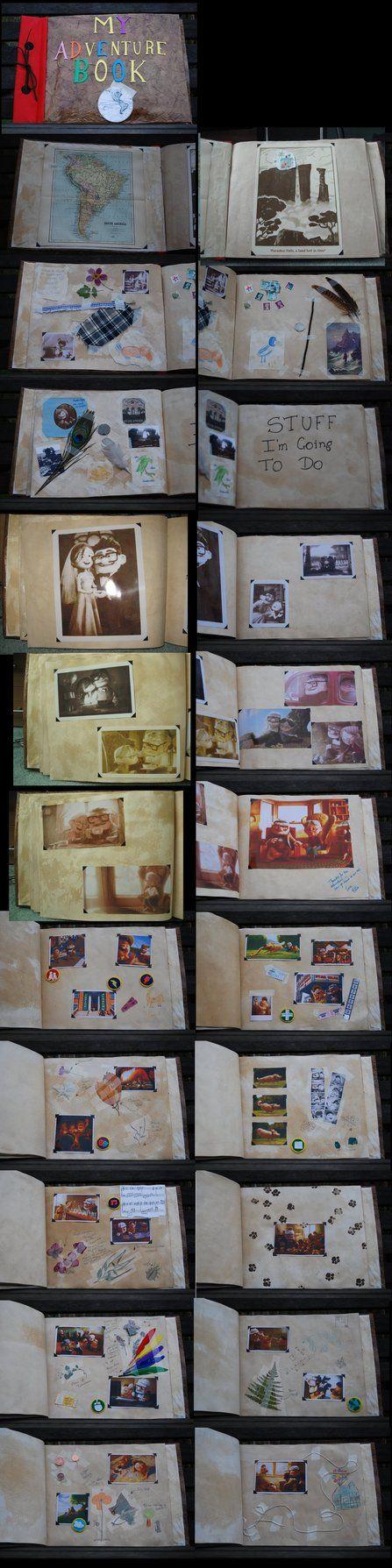 Pixar's Up My Adventure book by ~AlmightyGingerOne on deviantART