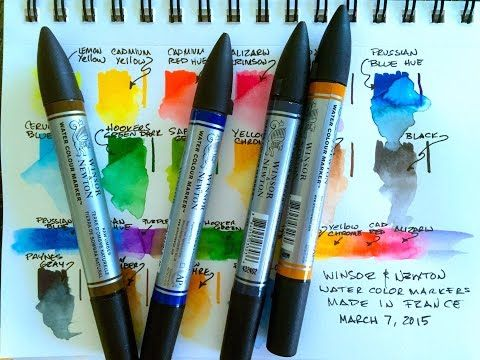 Winsor & Newton Watercolor Markers - YouTube