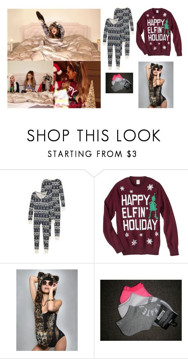 """""Santa Tell Me"" Music Video"" by ariianascloset ❤ liked on Polyvore featuring Victoria's Secret and Mossimo Supply Co."