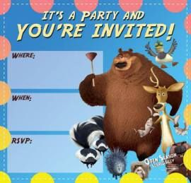 Open Season Scared Silly Printable Activities Invitations | SKGaleana