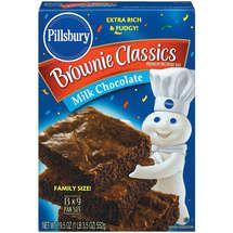 Pills bury packaging | Pillsbury Brownie Classics Milk Chocolate Brownie Mix - BoxBabble