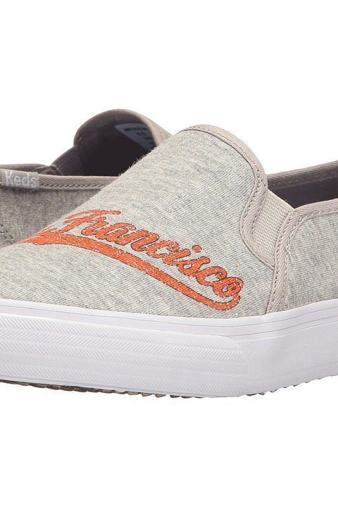 Keds Double Decker MLB Giants Jersey (Light Gray) Women's Slip on  Shoes - Keds, Double Decker MLB Giants Jersey, WF56848-050, Footwear Closed Slip on Casual, Slip on Casual, Closed Footwear, Footwear, Shoes, Gift, - Street Fashion And Style Ideas