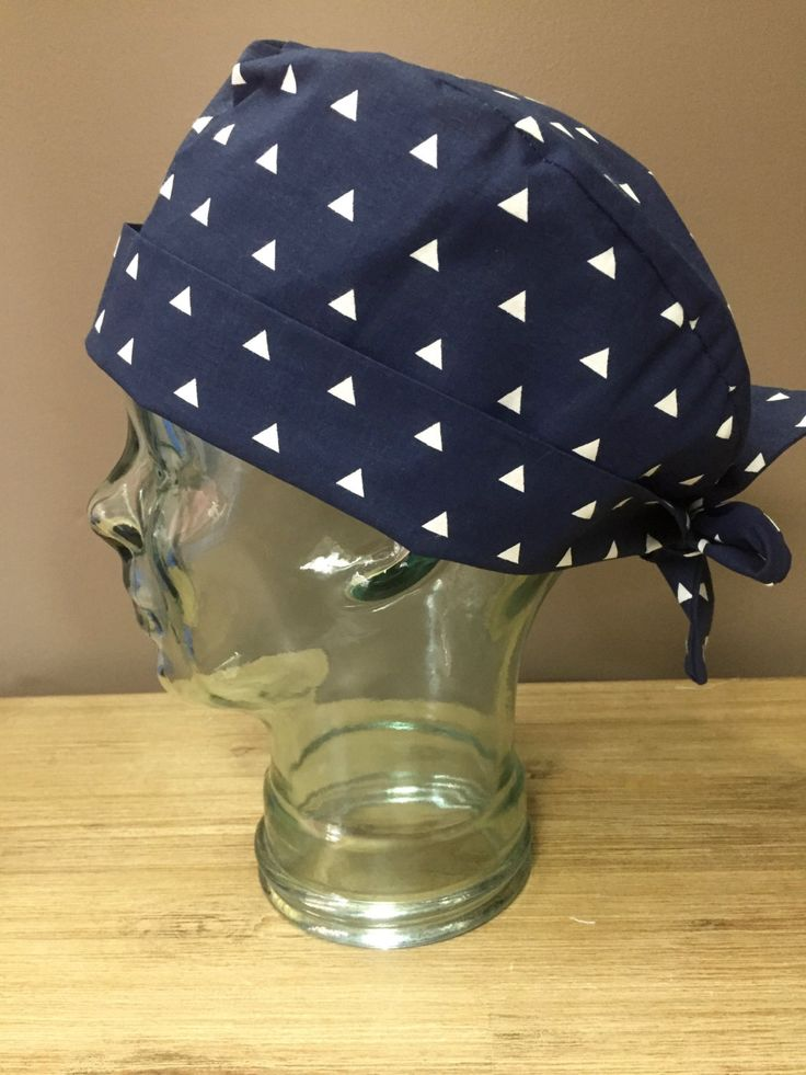 Navy Triangle Surgical Scrub Hat, Women's Modern Scrub Cap, Custom Caps Company by CustomCapsCompany on Etsy