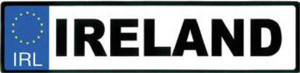 Sticker AS59 Ireland Reg Plate