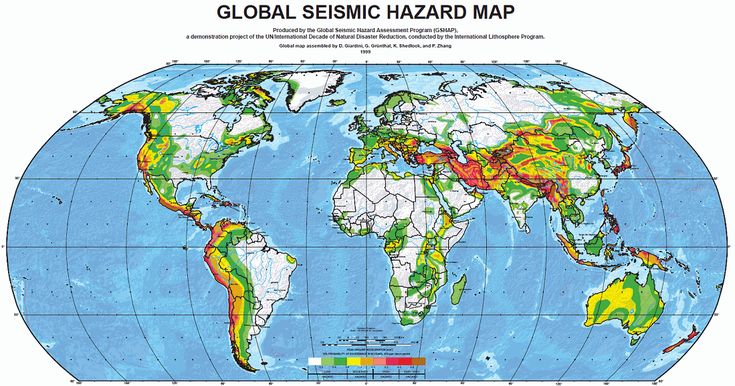 Where Are the Greatest Earthquake Zones on Earth?: Seismic Hazard Map of the World