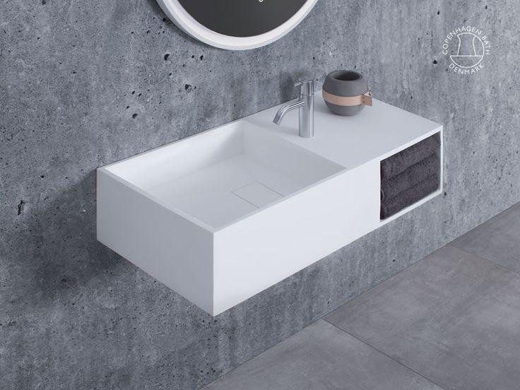 """""""Søndersø 80"""" wash basin from Copenhagen Bath."""
