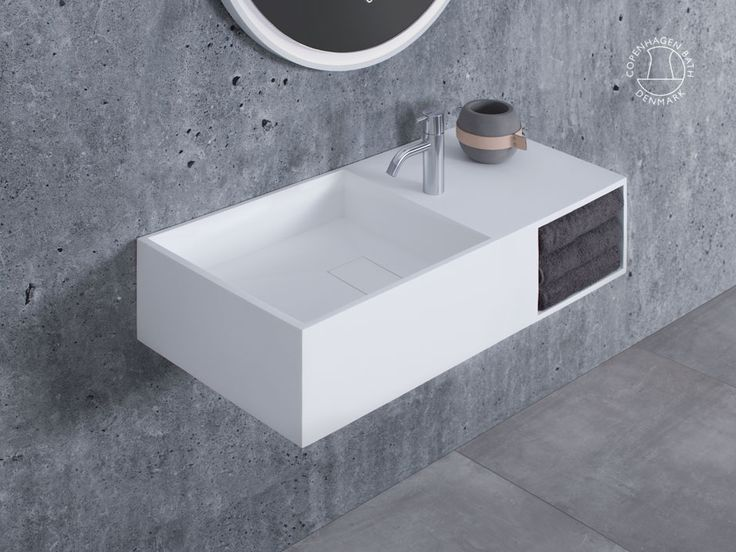 """Milano 80"" wash basin from Copenhagen Bath."
