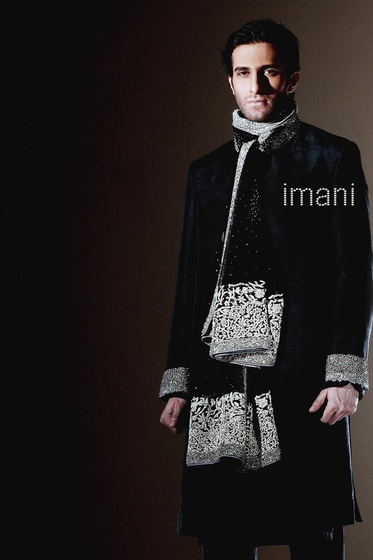 Wedding Sherwani By Hassan Sheheryar Yasin HSY For Imani Designer Studio Pakistan