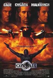 Con Air is an Academy Award–nominated 1997 American action-thriller film directed by Simon West and produced by Jerry Bruckheimer. It stars Nicolas Cage, John Cusack and John Malkovich.