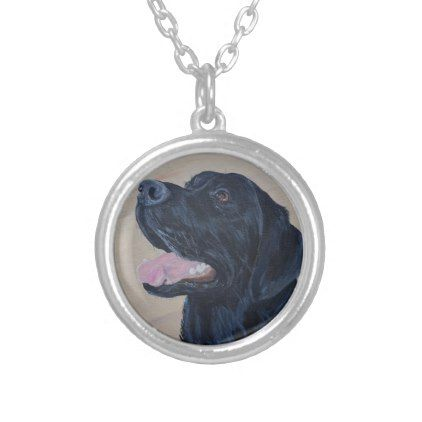 #Black Labrador Silver Plated Necklace - #Petgifts #Pet #Gifts #giftideas #giftidea #petlovers