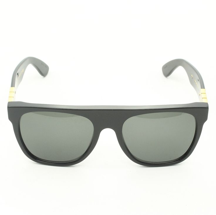 Super Flat Top R06 Gianni Sunglasses Black Gold with Black Zeiss Lenses by RETROSUPERFUTURE - Theaspecs.com